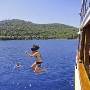 Bluecruise zwemmen in Kroatie aangeboden door IDRiva Tours