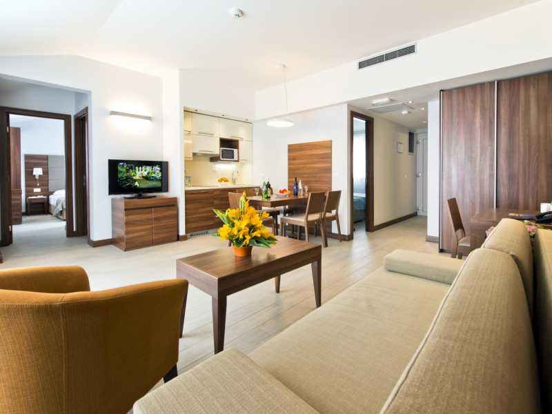 Zaton Holiday Resort – Appartement AP5-6  4 sterren huiskamer