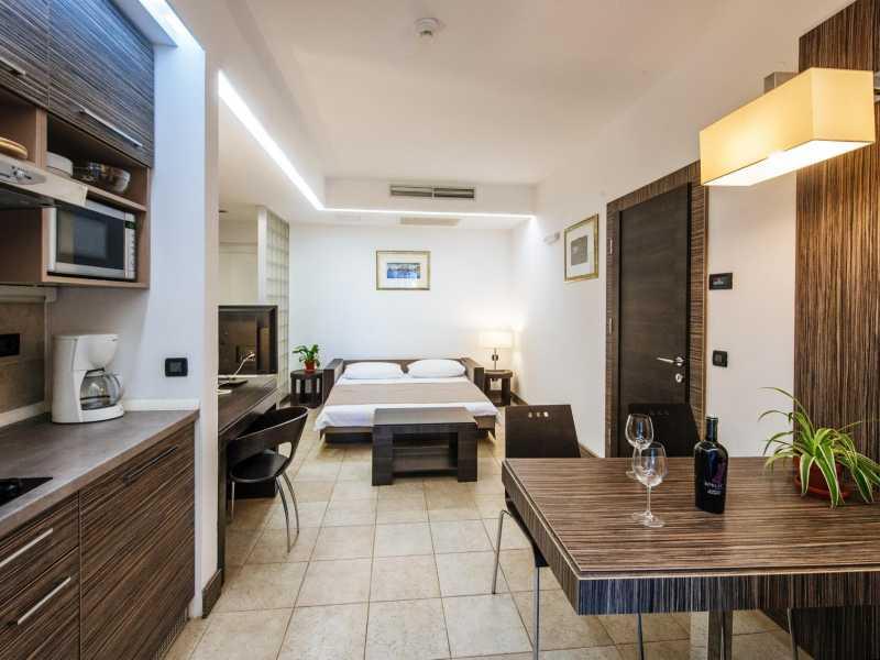 Zaton Holiday Resort – Appartement AP4  4 sterren keuken en zitruimte