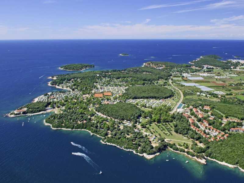 Naturistenresort Koversada luchtfoto