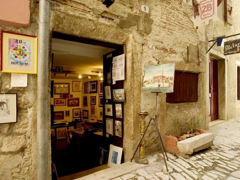 Ateliers en galeries in de Kroatische stad Rovinj