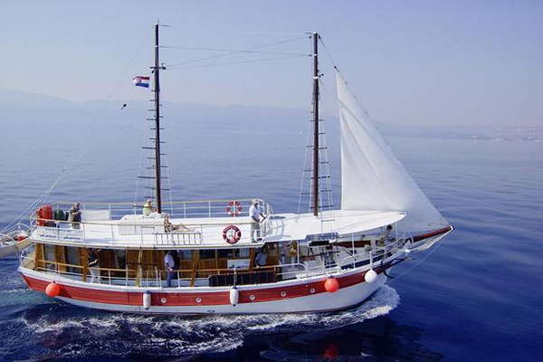 M/S OTAC LUKA Piraten Cruise Kvarner Regio – route RP