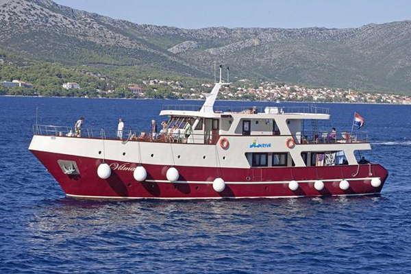 M/S VILMA Eilandhoppen Dalmatië – route TD