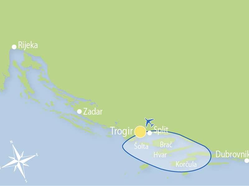 Blue cruise - M/S PRAVEDAN Zeil- route T8