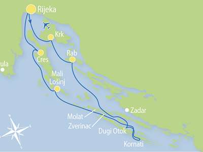 Blue cruise - M/S PLANKA – route R1