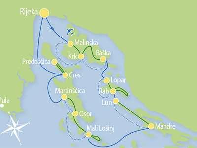 Route RB – Fietsend eilandhoppen door de Kvarner regio