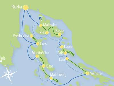 Blue cruise - M/S ATLANTIC Eilandhoppen Kvarner regio – route RB