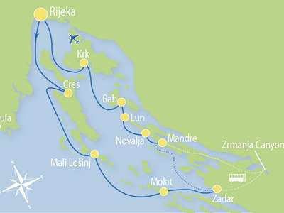 Blue cruise - Route RC – Actief en Relax combinatie cruise