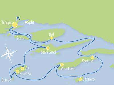 Blue cruise - M/S ANETA – route T1