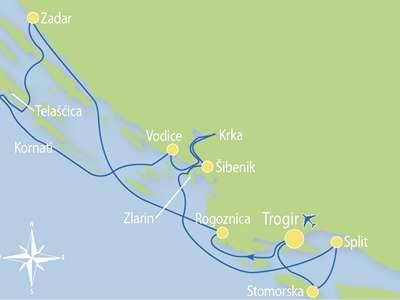 Blue cruise - M/S OTAC IVAN – route T2