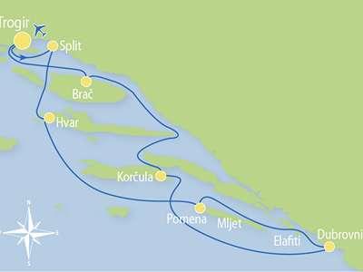 Route T3 – Hoogtepunten Midden-Dalmatië inclusief Dubrovnik