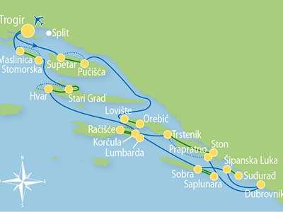 Route TD – Fietsend eilandhoppen door Midden- en Zuid Dalmatië inclusief Dubrovnik